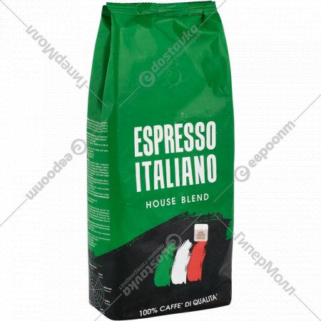 Кофе в зернах «Coffee Bank» Espresso ItaliaNo House Blend, 1 кг.