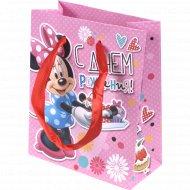 Пакет для подарков «Самой красивой девочке» 10965594, 12x15x6 см.