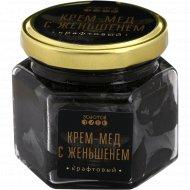 Крем-мед «Золотой улей» с женьшенем, крафтовый, 150 г.