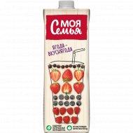 Напиток сокосодержащий «Моя семья» из смеси фруктов и ягод, 1л.