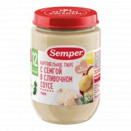 Пюре «Semper» картофельное с семгой, 190 г.