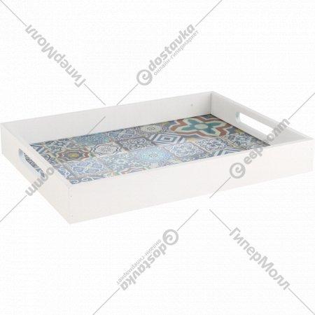 Декоративный поднос «Марокко» со стекляным дном, 37x27x5 см.