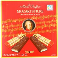 Темный шоколад «Mozartsticks» в мини-батончиках, 200 г.