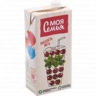 Напиток сокосодержащий «Моя семья» яблоко, рябина, вишня, мята, 1.93 л.
