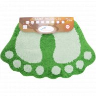 Коврик «Shahintex» лапки соединенные, 50х80 см, зеленый.