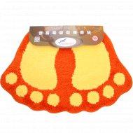 Коврик «Shahintex» лапки соединенные 50х80 см, оранжевый.