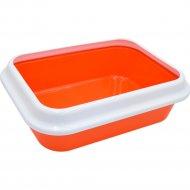 Лоток для кошек «Зооэкспресс» Lucky, оранжевый, 31х28х8.5 см