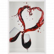 Копилка «Два бокала» для винных пробок, 21х30x5 см.