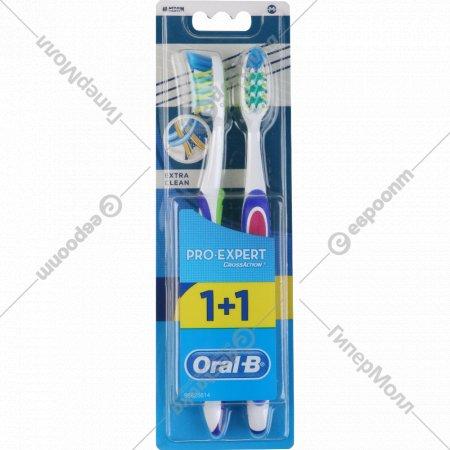 Зубная щетка «Oral-B» Pro-Expert» экстра-чистка, 1+1 шт.