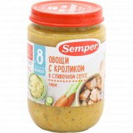 Пюре «Semper» овощи с кроликом в сливочном соусе, 190 г.