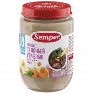 Пюре «Semper» овощи с телячьей печенью, 190 г.