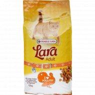 Полнорационный сухой корм «Lara»для кошек, индейка и курица, 10 кг.
