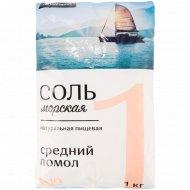 Соль морская пищевая «Florento» средняя, 1 кг.