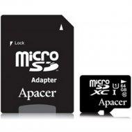Карта памяти «Apacer» AP 64G MCSX10U1-R.