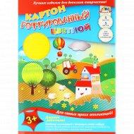 Цветной гофрированный картон «Летний день» 5 листов.