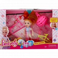 Игрушка «Кукла с аксессуарами» розово-голубое платье.