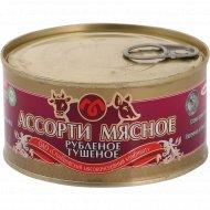 Консервы мясные «Ассорти мясное» рубленое, тушеное, 325 г.