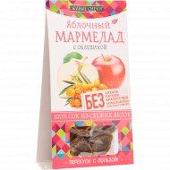 Мармелад яблочный «Живые снеки» с облепихой, 90 г.