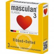 Презервативы «Masculan» classic 3 с колечками и пупырышками, 3 шт.