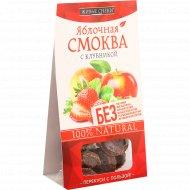 Смоква яблочная «Живые Снеки» с клубникой, 60 г.
