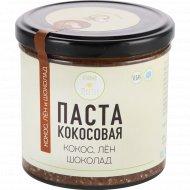 Паста кокосовая «Vegetus» лён и шоколад, 300 г.