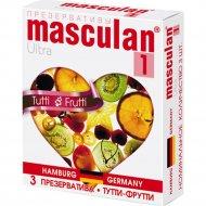 Презервативы «Masculan» ultra 1, Тутти- фрутти, 3 шт.