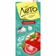 Сок томатный «Планы на лето» с мякотью, с солью, 1 л.