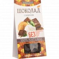 Шоколад «Живые снеки» с кокосом, 100 г.