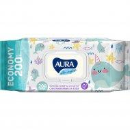 Салфетки влажные для детей «Aura ultra comfort» 200 шт.