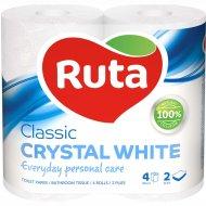 Бумага туалетная «Ruta» Classic белая, 4 рулона.
