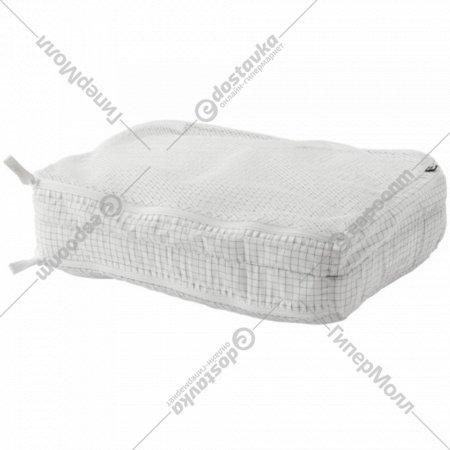 Сумка для одежды с отделениями «Ренсаре» клетчатый орнамент/белая