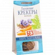 Крекеры льняные «Живые Снеки» морковь, 60 г.