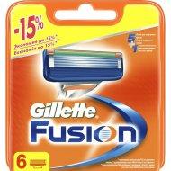 Кассеты для бритья «Gillette» Fusion, 6 шт