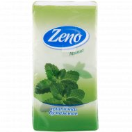 Салфетки бумажные «Zeno» мята, 10 платочков.