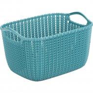 Корзина «Curver» knit, 03674-Х65-00, морская волна, 8 л, 30x22x17 см.