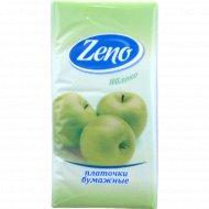 Салфетки бумажные «Zeno» яблоко, 10 платочков.