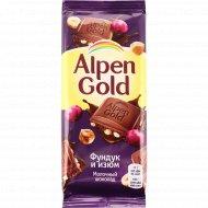 Шоколад «Alpen Gold» фундук и изюм, 85 г.