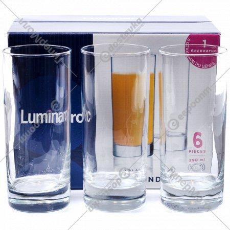 Набор стаканов «Islande» стеклянных, 6 шт, 290 мл.