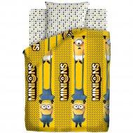 Комплект постельного белья «Миньоны 2» Black and yellow, 50х70