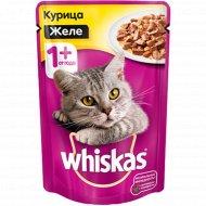 Корм для кошек «Whiskas» желе с курицей, 85 г.