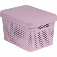 Коробка «Curver» infinity lid dots, 229152, розовый, 360x270x220 мм.