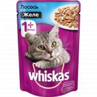 Корм для кошек «Whiskas» желе с лососем 85 г.