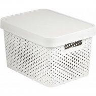 Коробка «Curver» infinity lid dots, 229153, белый, 360x270x220 мм.