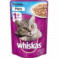 Корм для кошек «Whiskas» рагу с лососем, 85 г.