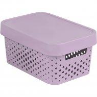 Коробка «Curver» infinity lid dots, 229156, розовый, 270x190x120 мм.
