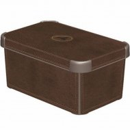 Коробка «Curver» deco stockholm s, 172635, кожа, 6 л, 295x195x135 мм.