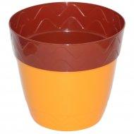Горшок цветочный «Милана» с поддонником-стаканом, 2 л.