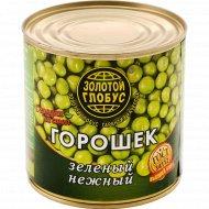Горошек зеленый «Золотой глобус» нежный, 400 г.
