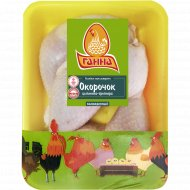 Окорочок цыплёнка-бройлера «Ганна» охлаждённый, 1 кг., фасовка 0.7-0.9 кг