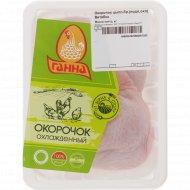 Окорочок цыплёнка-бройлера «Ганна» охлаждённый, 1 кг., фасовка 0.65-0.95 кг